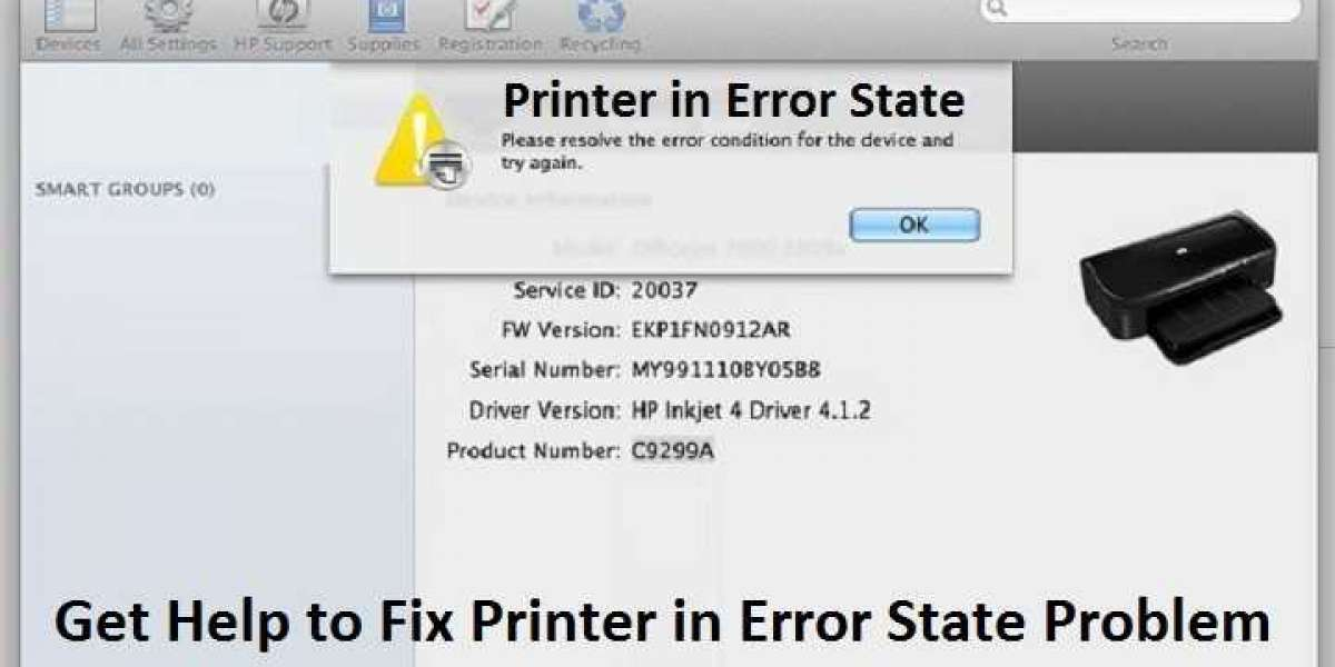 Why am I Getting an error State Message on my HP printer