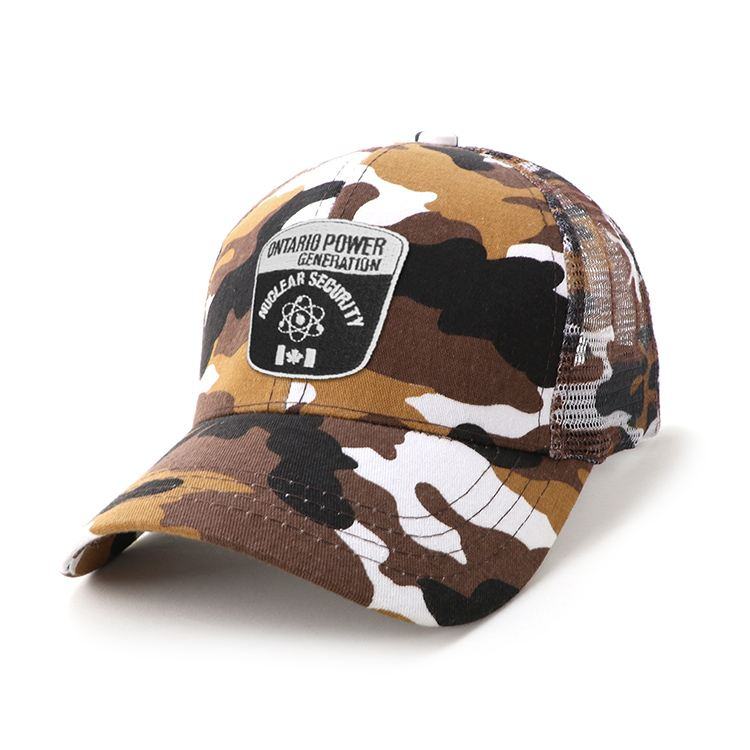 Camo Six Panel Cap By Fast Caps