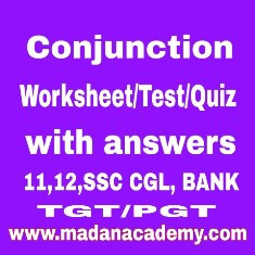 conjunctions worksheets with answers-conjunctions test-conjunctions quiz