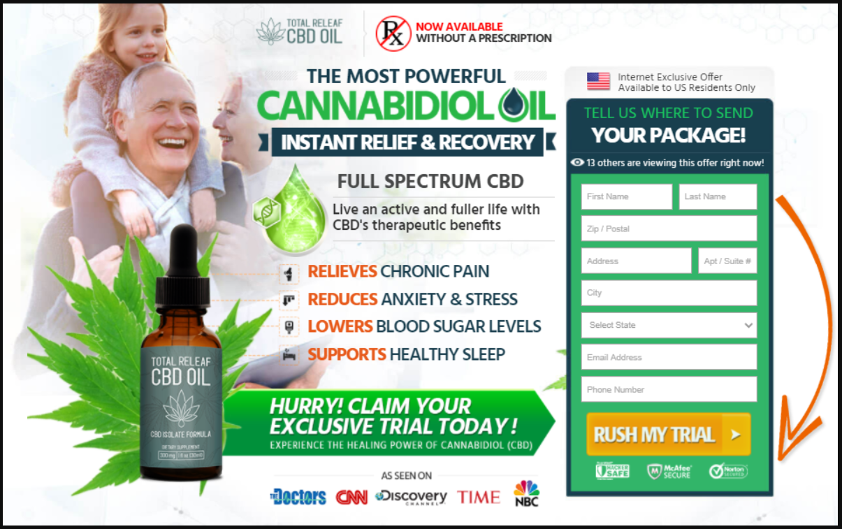 Total Relief CBD Oil Reviews: Does It Really Work? Trial Offer, Price & Buy!