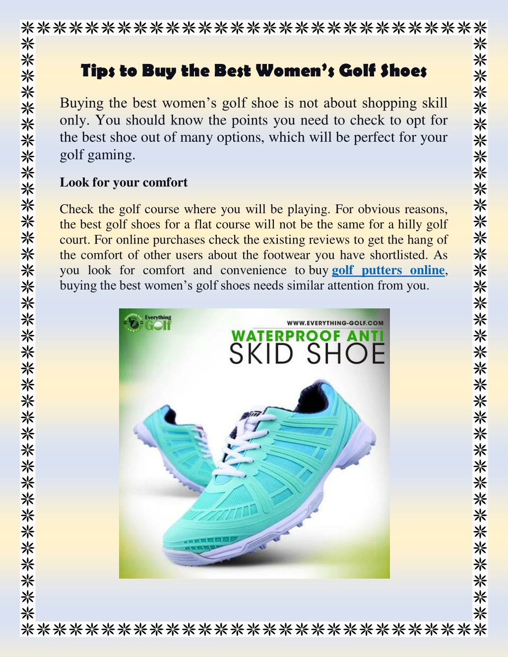 PPT - Tips to Buy the Best Women's Golf Shoes PowerPoint Presentation - ID:10060555