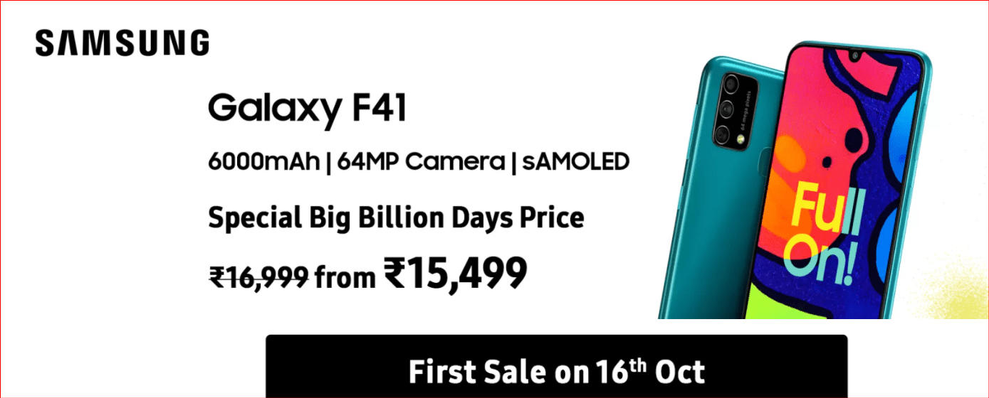 Samsung Galaxy F41 Price in India, Features in Detail | MSTechTalks.com