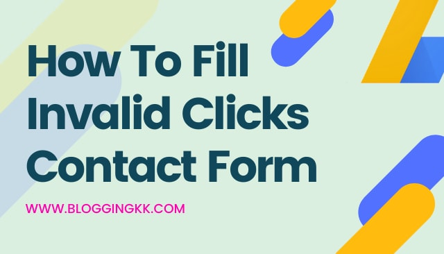 How To Fill Invalid Clicks Contact Form Your Suspended Adsense Account