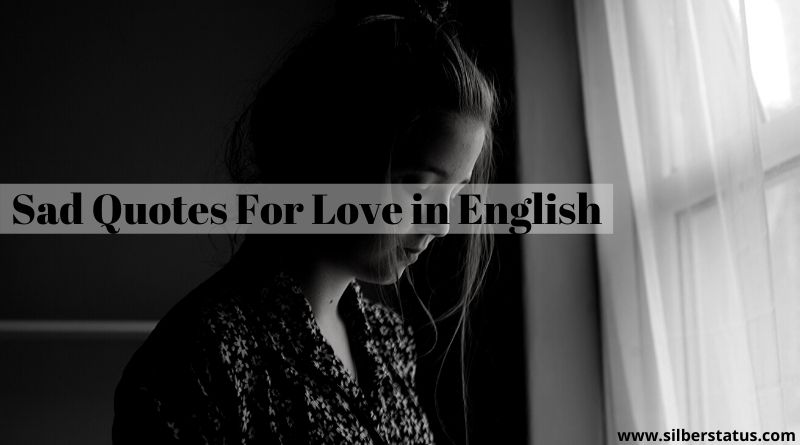 Sad Quotes For Love in English » Silber Status
