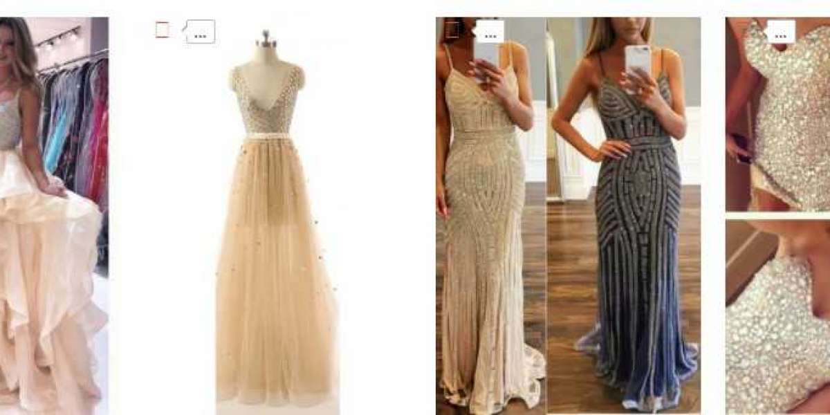 Shine At The Party With Champagne Prom Dresses