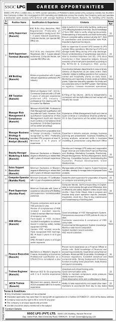 Sui Southern Gas Company Latest Jobs 2020 Apply Online - Aham Jobs