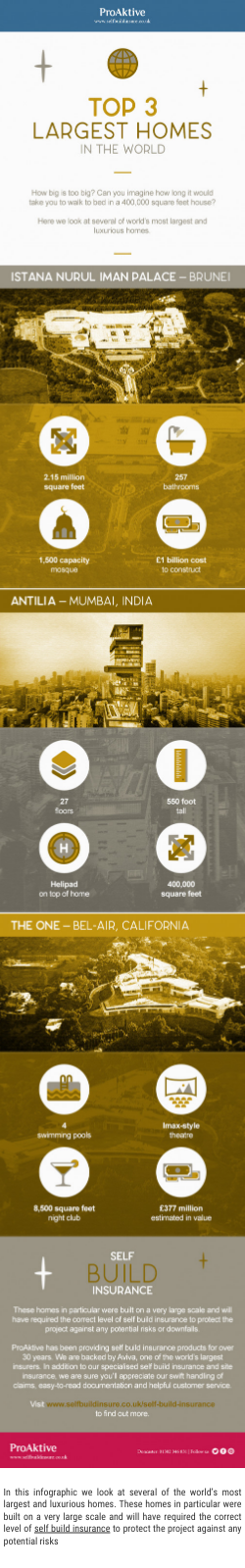 Top 3 Largest Homes in the World - by Lisa Parker [Infographic]