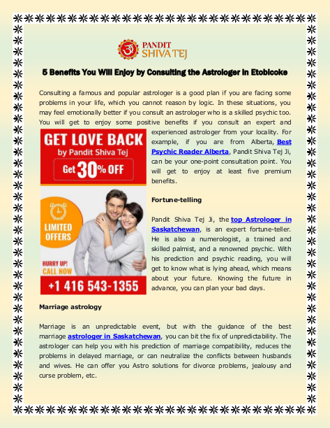5 Benefits You Will Enjoy by Consulting the Astrologer in Etobicoke   edocr