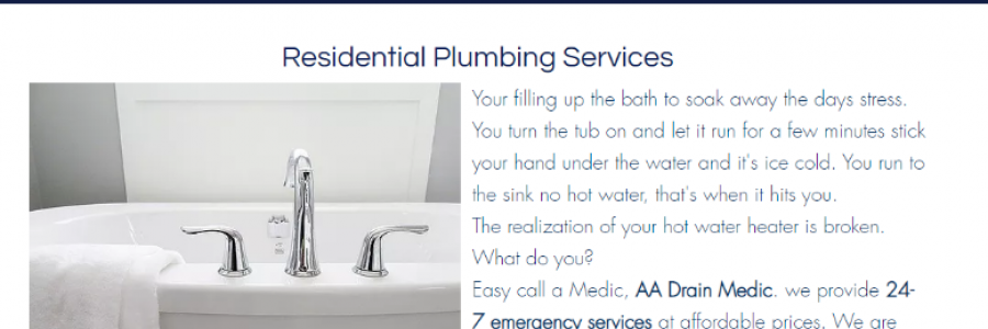 Get Affordable Residential Plumbing Services - Aadrain Medickc