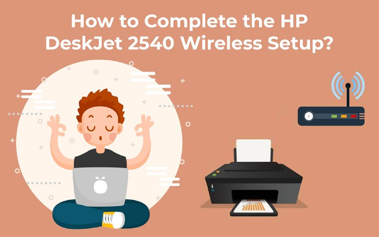 How To Connect Hp Deskjet 2540 To Wifi Without Usb