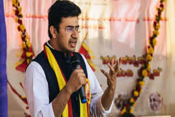 BJP'S Tejasvi Surya has been booked by police > Ne India News