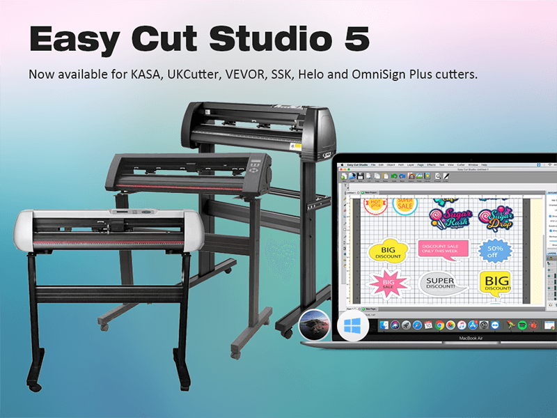 Easy Cut Studio 5 now available for vinyl cutting plotters