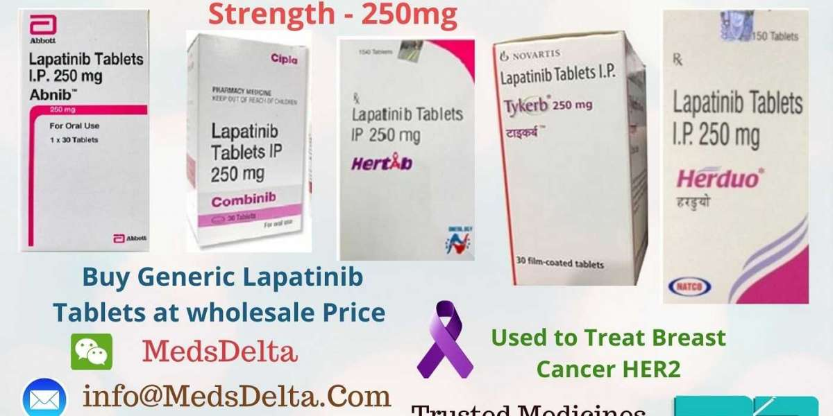 Lapatinib 250mg Tablets Price in India | Generic Tykerb Herduo Wholesaler