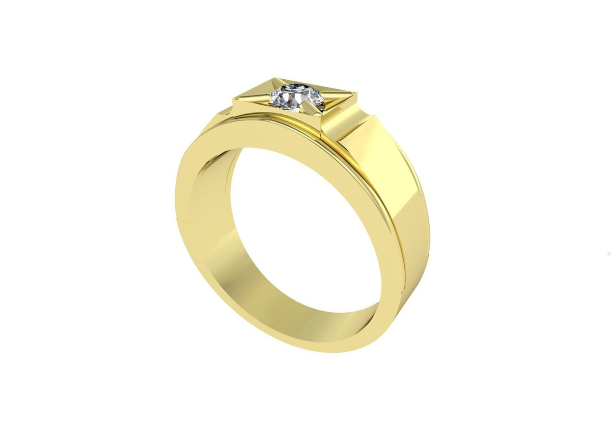 Timeless Brilliiance Mens CZ Engagement Ring