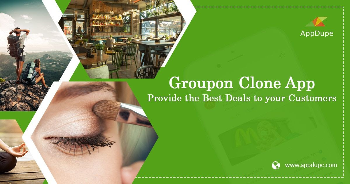 What are some of the advanced features of the Groupon clone app?