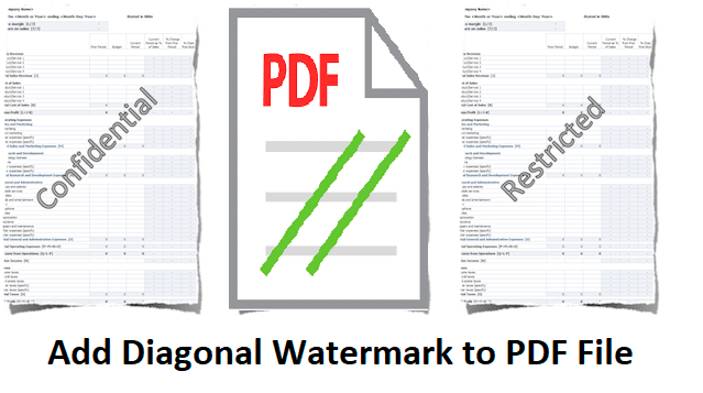 Add Diagonal Watermark To PDF | A Step-By-Step Review - TechsPlace