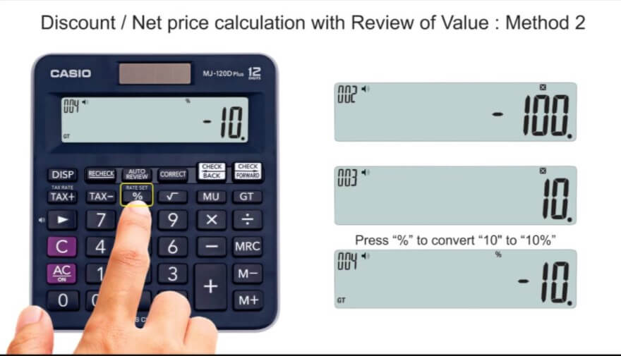 How to calculate a percentage? - Price with Discount / Total Cost * 100