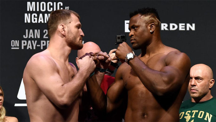 Miocic vs Ngannou clash takes place at UFC 260 in March, says Dana White