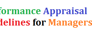 Performance Appraisal Guidelines for Managers - Administrative Info