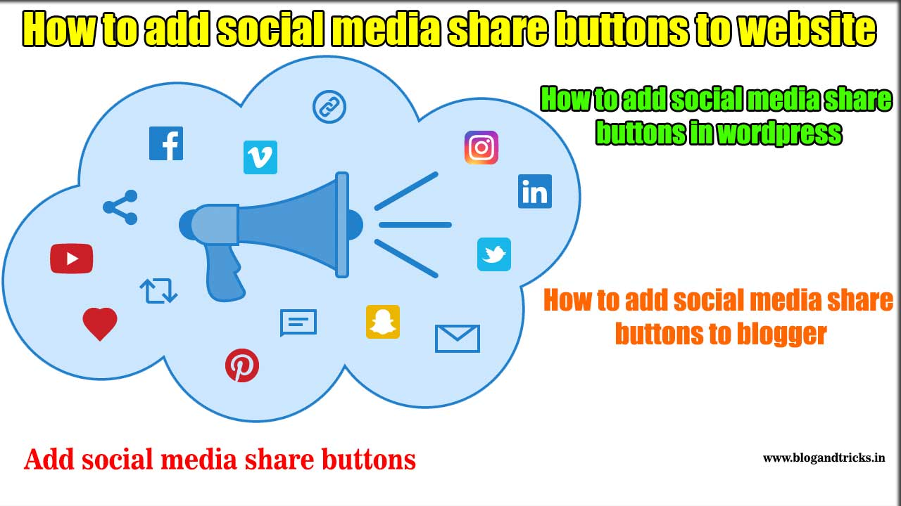 How to add social media share buttons to website - Blog and tricks