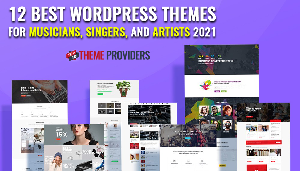 12 Best WordPress Themes For Musicians, Singers, And Artists 2021 - top10themeproviders.com