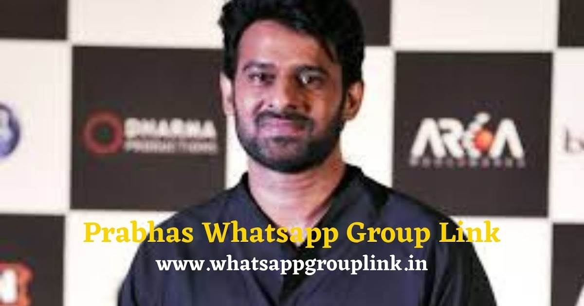Join 101+ Prabhas Whatsapp Group Link - WhatsappGroupLink