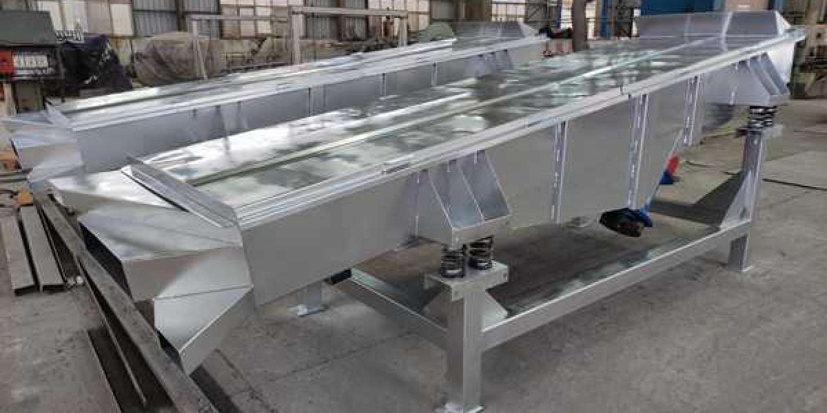 stainless steel linear vibration screening machine for wastewater treatment (solids recycling)