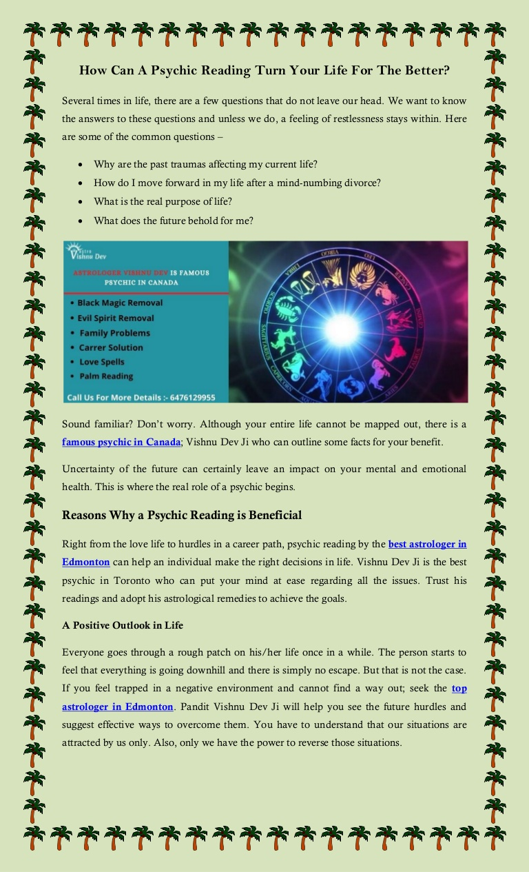 How Can A Psychic Reading Turn Your Life For The Better?