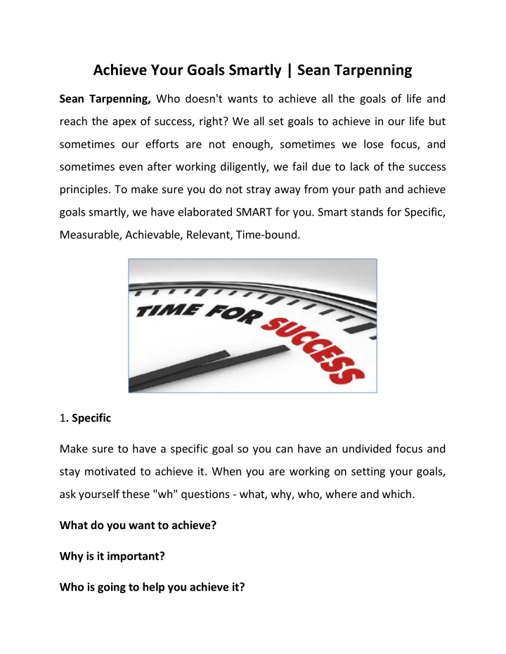 PPT - Sean Tarpenning - Why Is It Important To Get Out Of Your Comfort Zone PowerPoint Presentation - ID:10361728