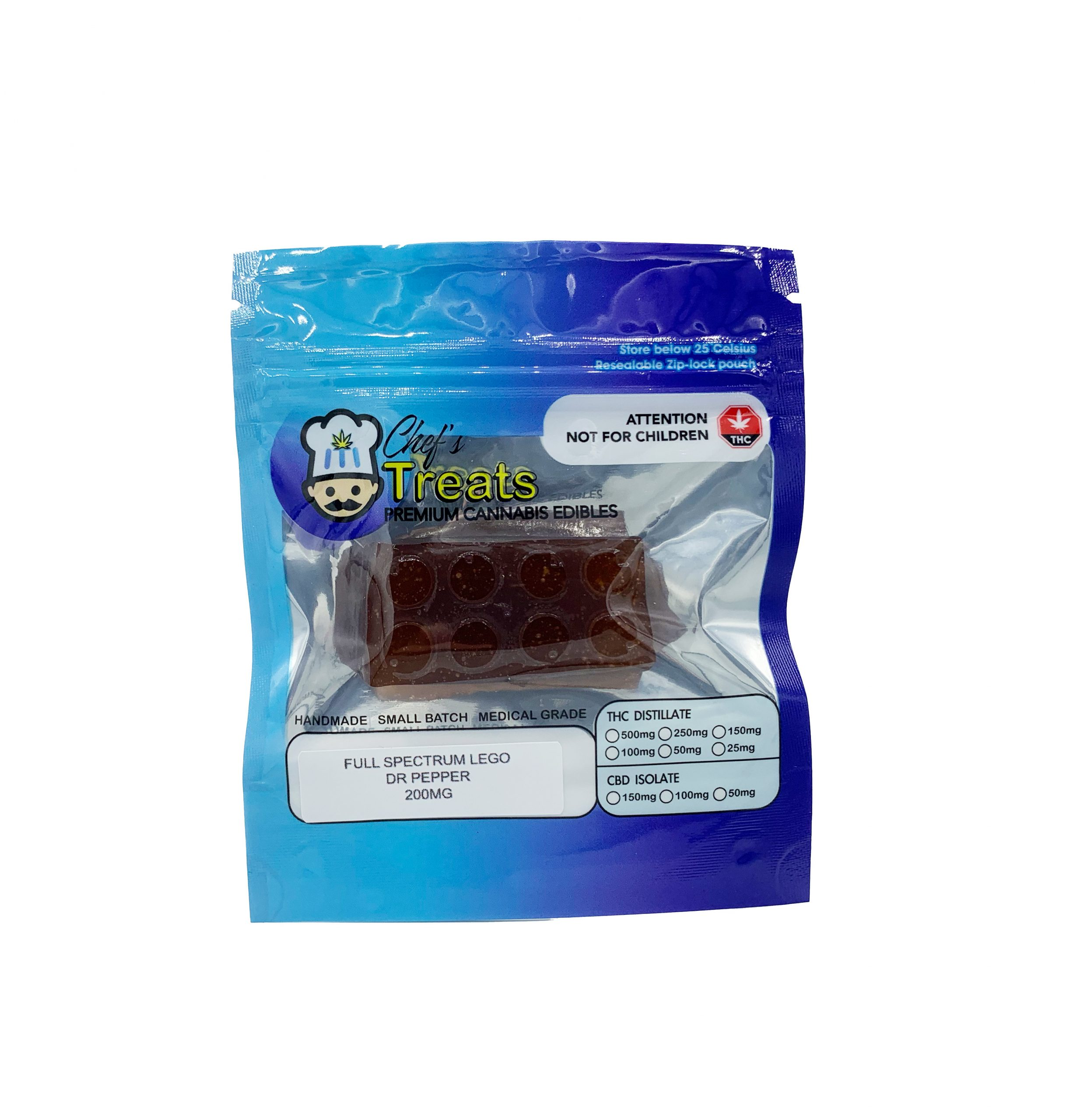 Buy Chef's Treats - Full Spectrum Lego Dr. Pepper 200mg THC Online - WTF Online Dispensary - Cannabis!