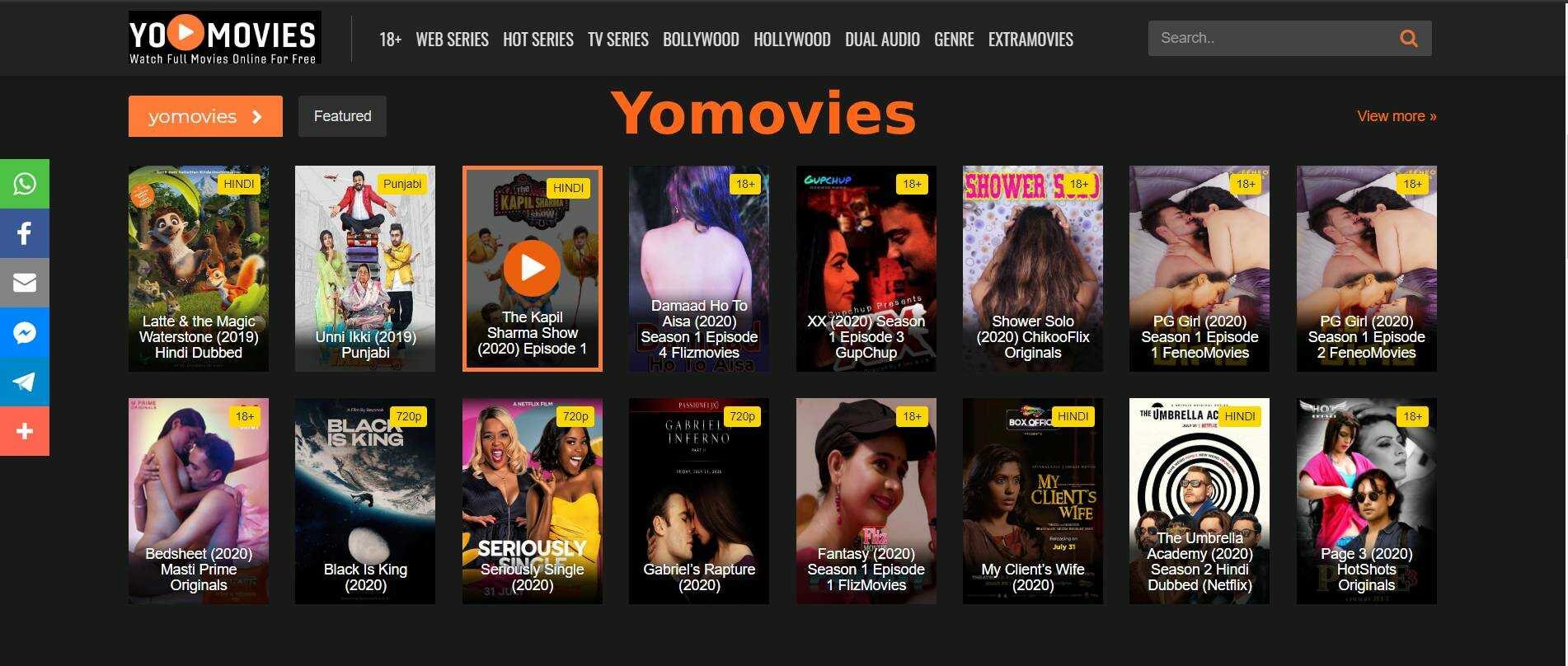 Yomovies 2021 - Illigal Download Bollywood, Hollywood movies in HD