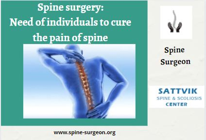 Spine surgery: Need of individuals to cure the pain of spine – Best Spine Surgeon In India