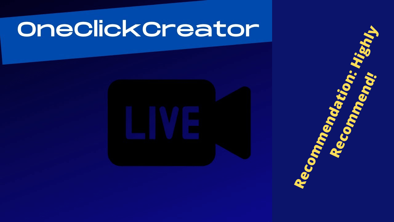 OneClickCreator Review - ⭐️ Create Professional Videos On Your Products