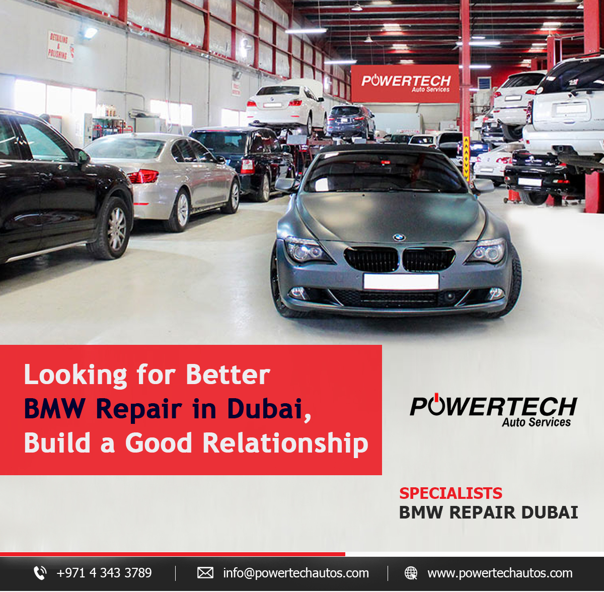 Looking for Better BMW Repair in Dubai, Build a Good Relationship! – Powertech Auto Services