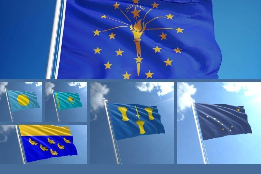 Yellow and Blue Flags are for Country's National Flag or Warnings? - TNE
