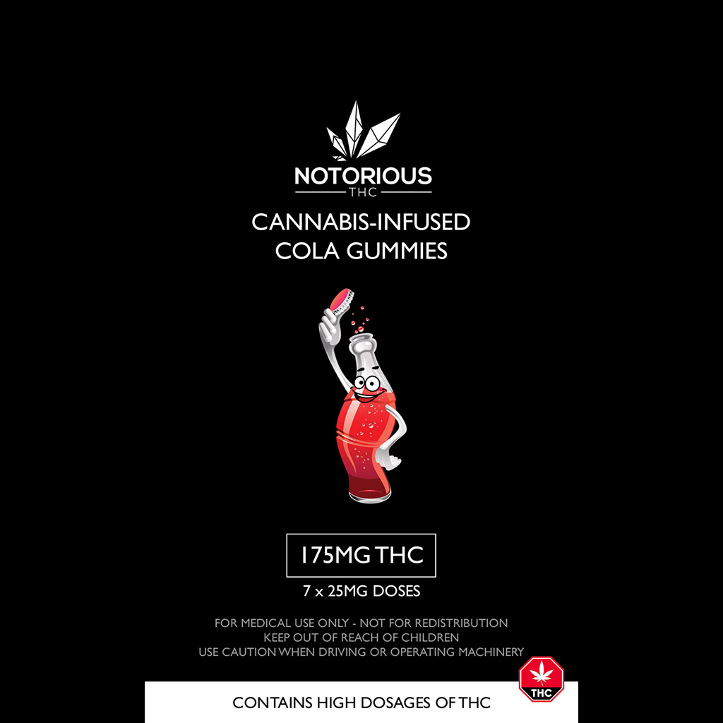 Buy Notorious THC - Candy Colas (175MG THC) Online - Ganja West