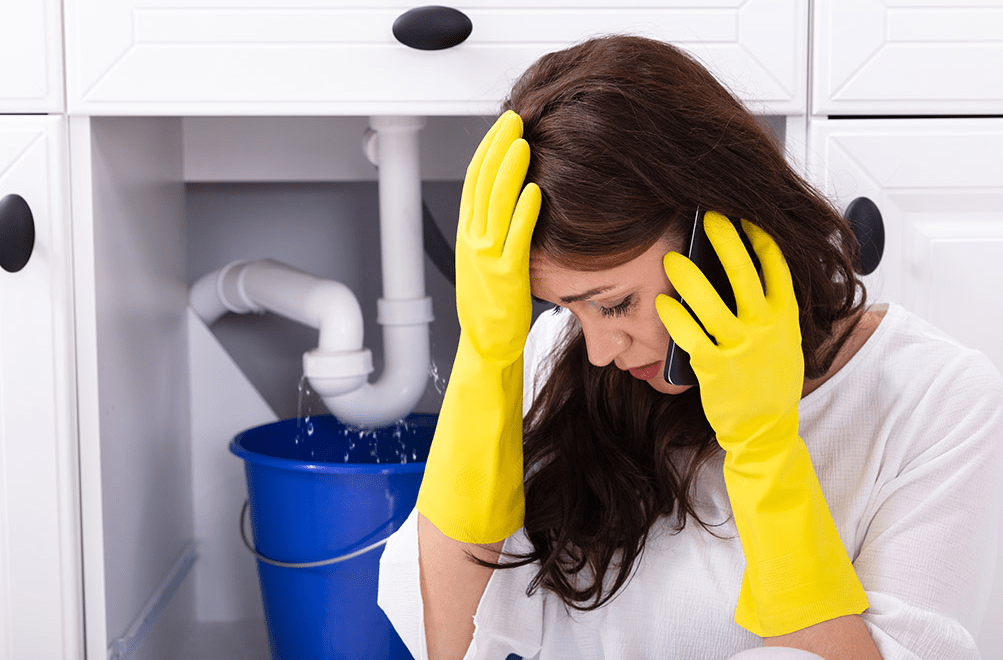 Why is a trained plumber necessary to handle emergencies?