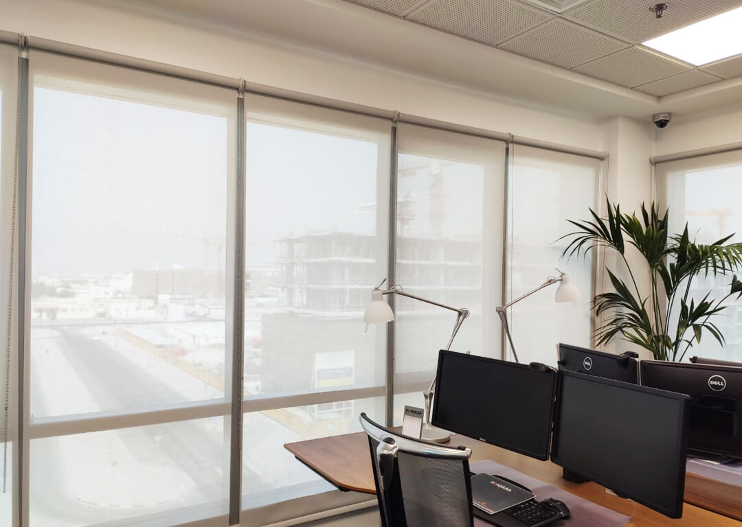 Sunscreen Roller Blinds | Office Rolling Curtains | 99 Blinds