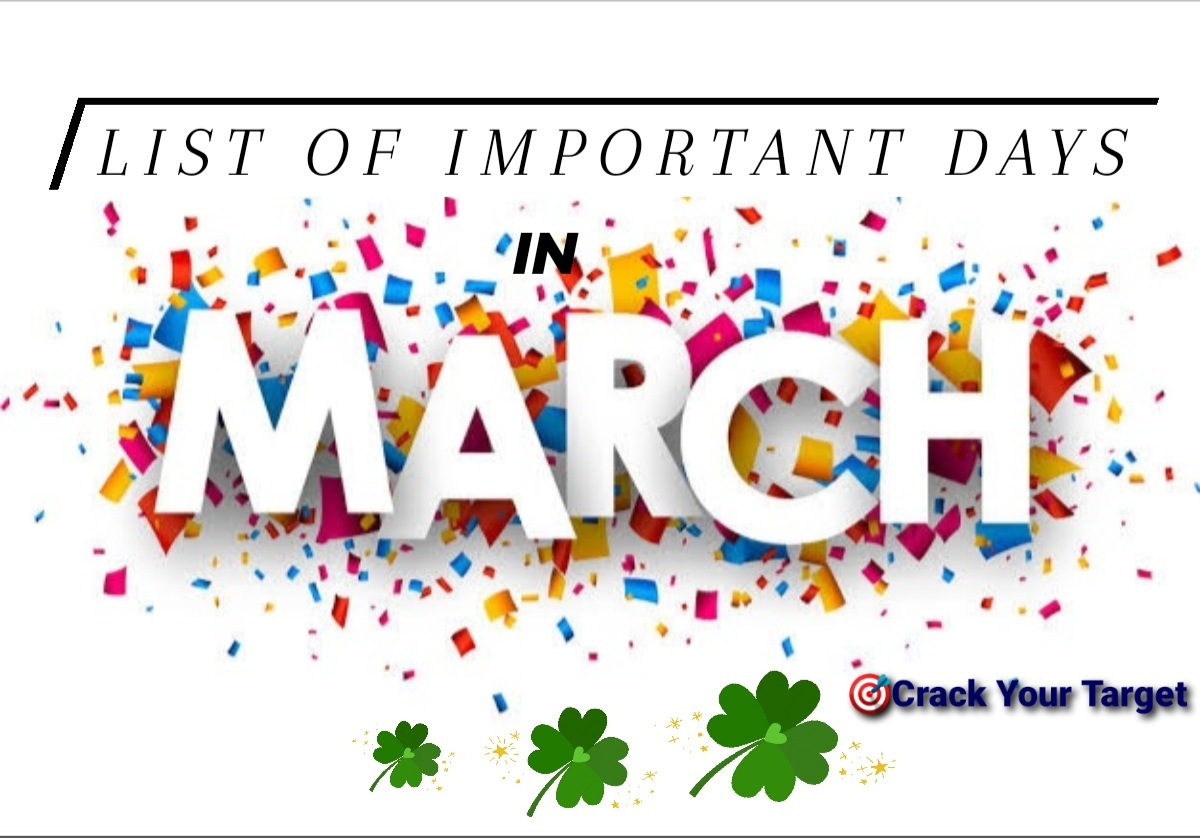 List Of Important Days In March 2021 With Theme | Crack Your Target
