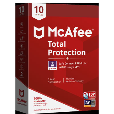 Buy McAfee Total Protection + Safe Connect - WebInterSecure
