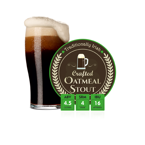 Traditionally Irish Crafted Oatmeal Stout Beer Recipe Kit - 24 Liters - Krome Brew