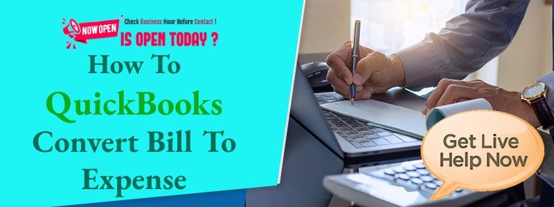 How To Change Bill Payment To Expense In QuickBooks