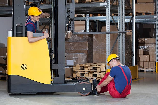 What safety measures do you need to maintain while using a forklift?