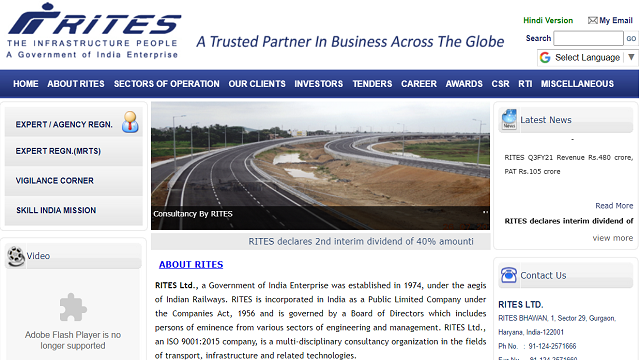 RITES Limited Recruitment 2021 for 146 Apprentice Posts