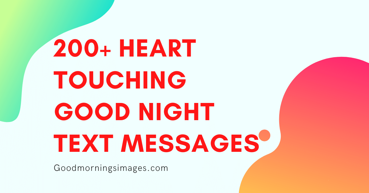 Heart Touching Latest Good Night Messages For Friend In English