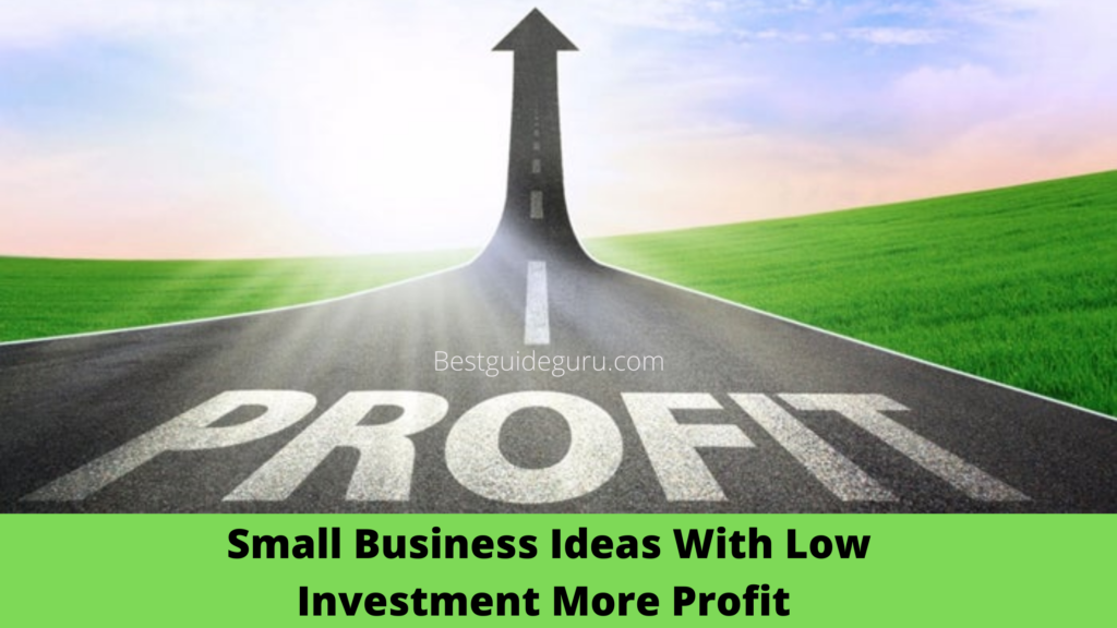 Small Business Ideas With Low Investment More Profit In India In 2021