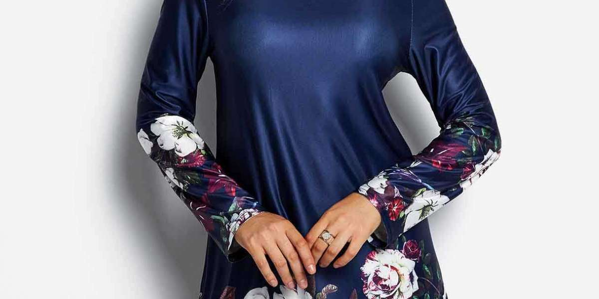 Round Neck Lace 3/4 Sleeve Plus Size Tops