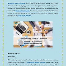 Different Types of Accounting Services Colchester | Visual.ly