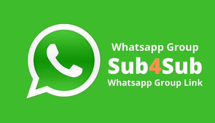 Best Youtube Sub4Sub Whatsapp Group Links - Get Group Link