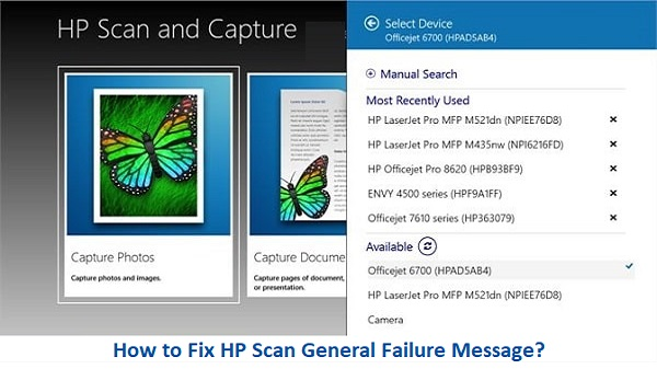 How to Fix HP Scan General Failure Message? | HP Support